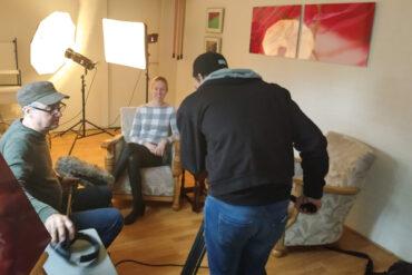 Filmopnames in mijn studio