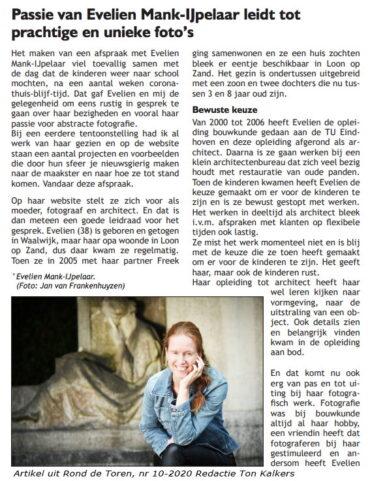 Artikel in Rond de Toren