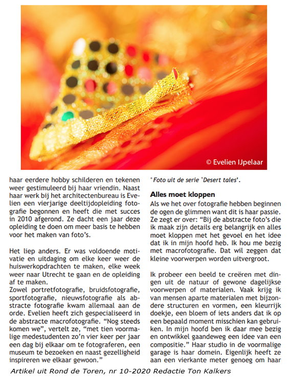 artikel interview Evelien